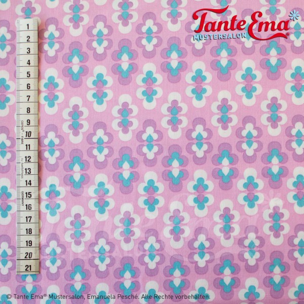 Baumwollstoff Tango rosa/lila
