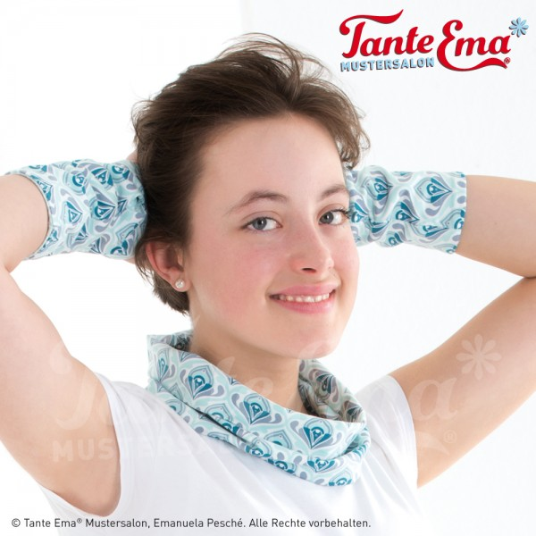 Digitales Schnittmuster Handgelenkstulpen zum Wenden mit Nähanleitung