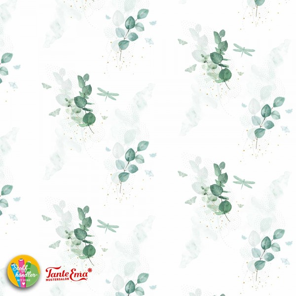 Jersey Stoff Eukalyptus