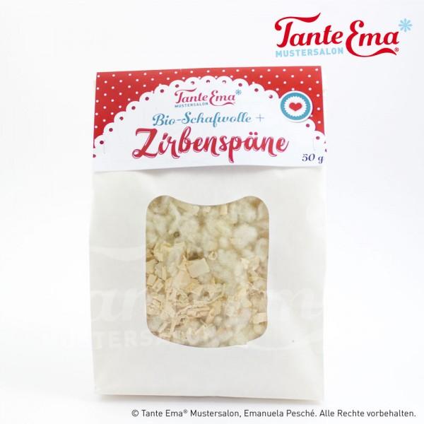 """Füllmaterial """"Zirbenholz und Bio-Schafwolle"""", 50 g"""