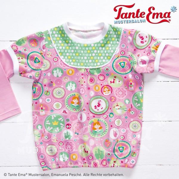 Digitales Schnittmuster Kinder Shirt mit Passe und Longshirt Größen 98 bis 128 mit Nähanleitung