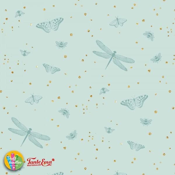 Jersey Stoff Geflatter helles Mint