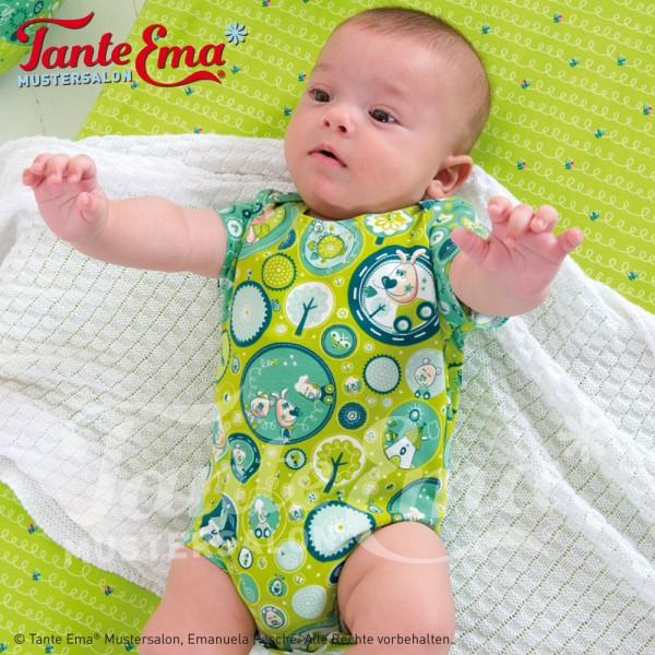 Digitales Schnittmuster Babybody und Babykleidchen Größen 50 bis 92 mit Nähanleitung