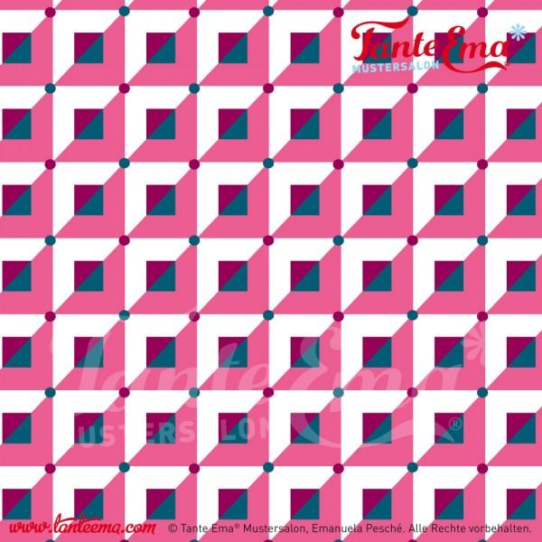 Baumwollstoff Quartett rosa