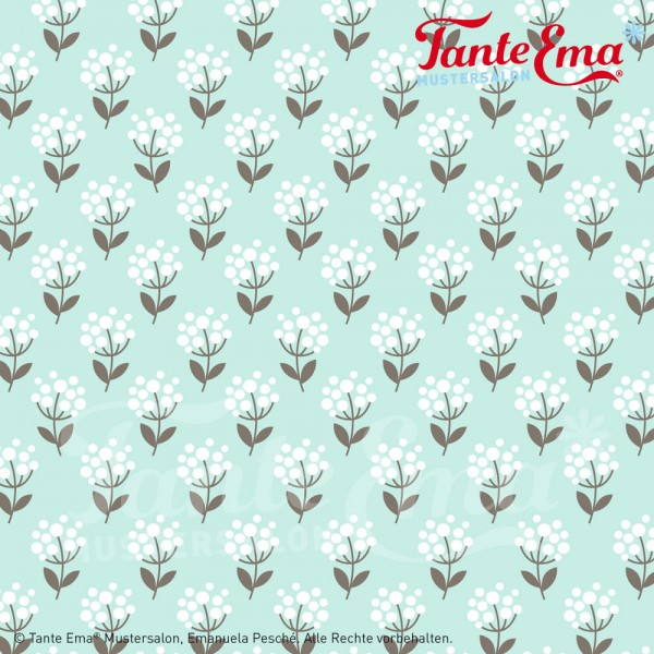 Jerseystoff Blütenglück mint