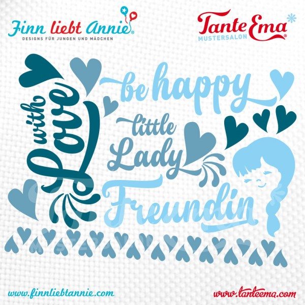 "Plotterdatei Finn liebt Annie® ""Be happy"" designed by Tante Ema®"
