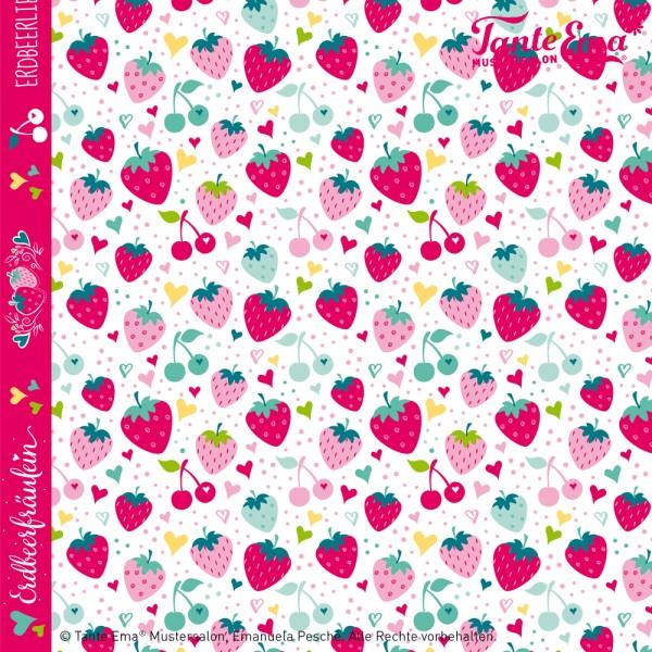 Baumwollstoff Erdbeerliebe