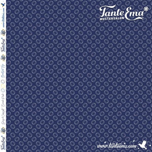 Jersey Stoff Kreispunkte dunkelblau | Tante Ema® Mustersalon