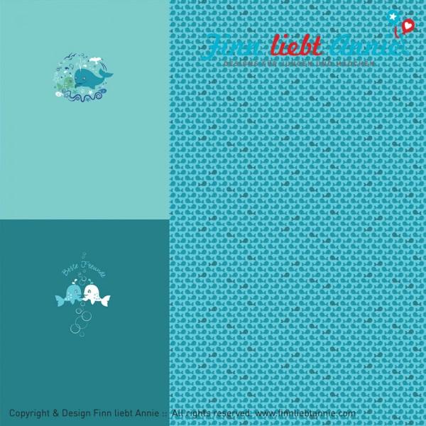 Jerseystoff Meeresströmung Panel