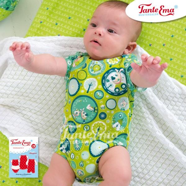 Schnittmuster Babybody Babykleidchen Größen 50 bis 92 mit Nähanleitung, Nr. 21