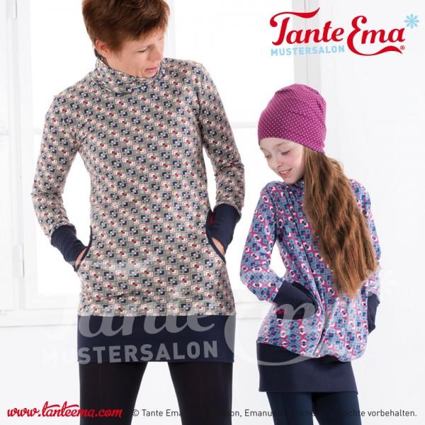 Digitales Schnittmuster Longshirt und Kinder-Longshirt mit Nähanleitung