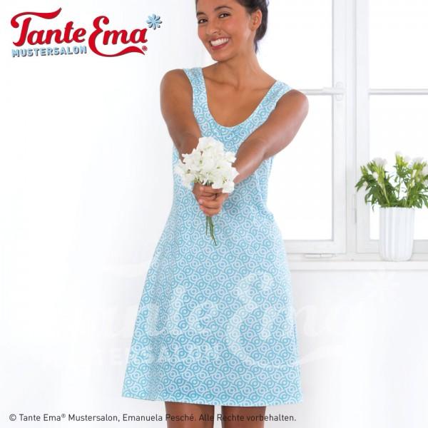 Digitales Schnittmuster Kleid mit Abnähern Größen 34 bis 46 mit Nähanleitung