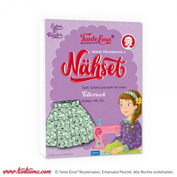 """Kindernähset Nr. 8 """"Kinder-Tellerrock"""" mint"""