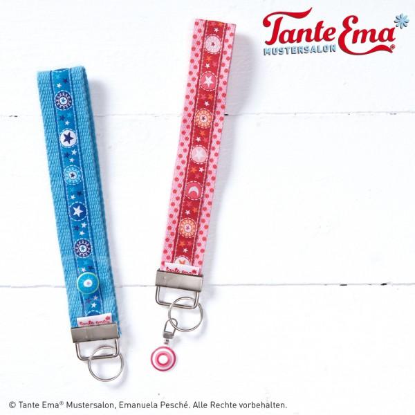 Digitales Schnittmuster Schlüsselband & Schlüsselanhänger mit Metallclip mit Nähanleitung
