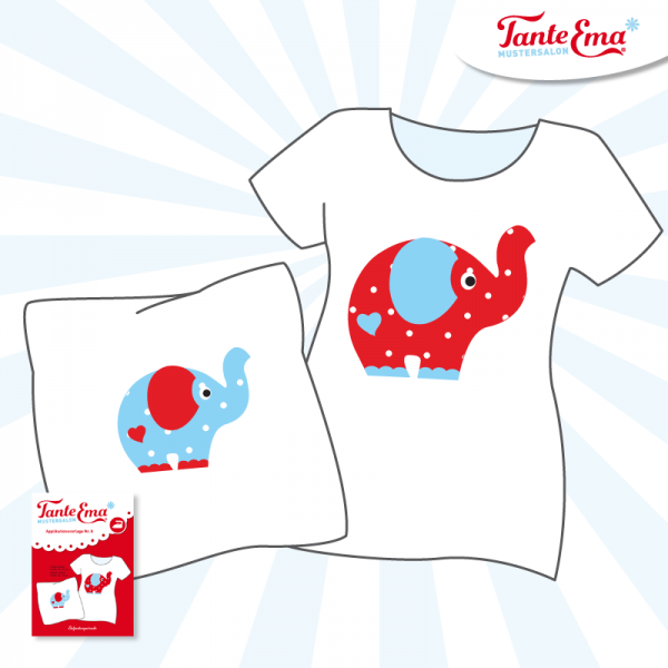 Tante Ema® Applikationsvorlage Nr. 8, Elefantenparade Elefanten