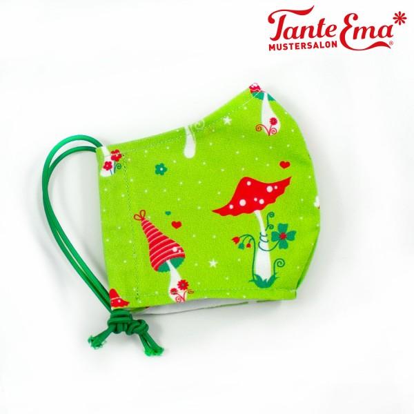Genähte Kinder-Gesichtsmaske im fröhlichen Tante Ema® Look, 3 bis 6 Jahre