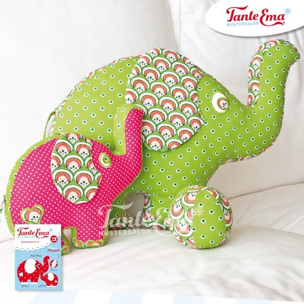 Schnittmuster Elefant mit Nähanleitung, Nr.10
