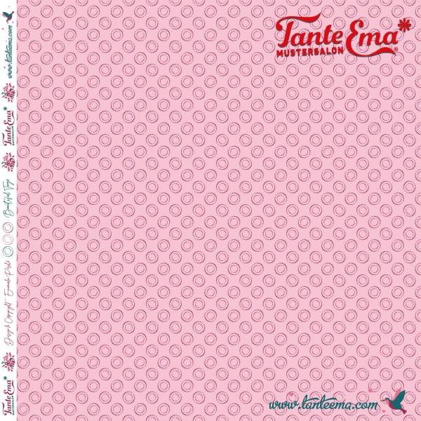 Jersey Stoff Kreispunkte rosa | Tante Ema® Mustersalon