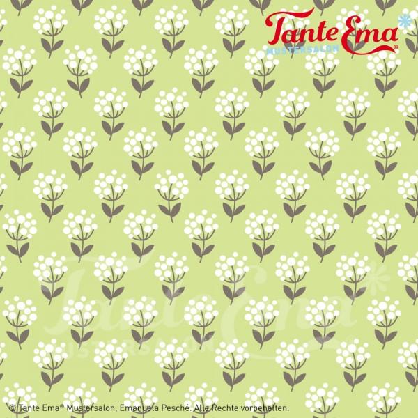 Baumwollstoff Blütenglück hellgrün