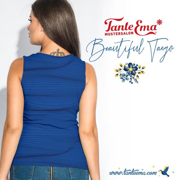 Jersey Stoff Streifenzauber blau | Tante Ema® Mustersalon