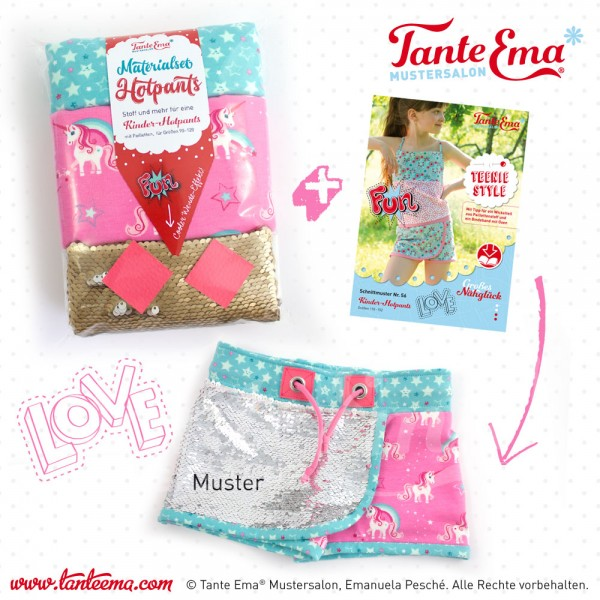 Kinder-Hotpants, Materialset