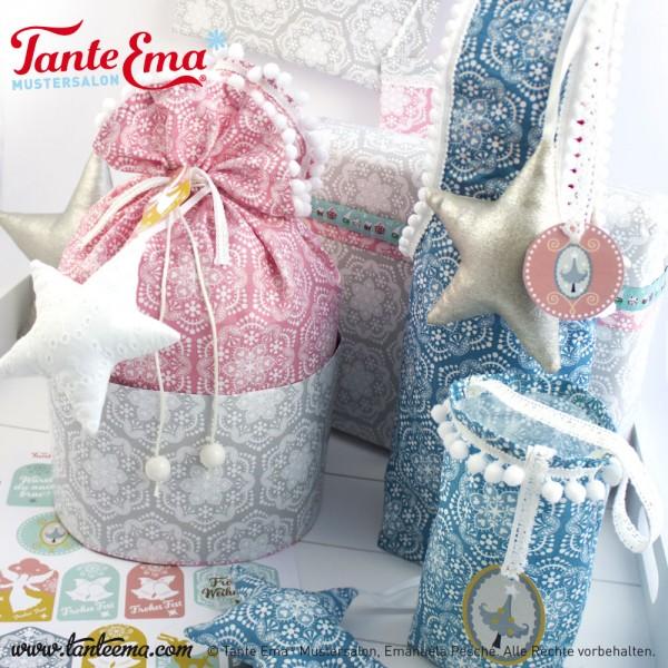 Digitales Schnittmuster Geschenkbeutel aus Stoff und Papier mit Nähanleitung